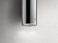 Cappa in acciaio inox a parete con illuminazione integrataTUBE PRO - ELICA