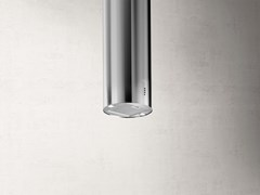 Cappa ad isola in acciaio inox con illuminazione integrataTUBE PRO ISLAND - ELICA