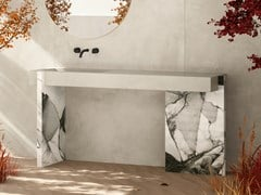 Lavabo a consolle rettangolare in gres porcellanatoTULIP - CERAMICA DEL CONCA