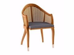 Sedia da giardino in teak con braccioliTULIPE | Sedia con braccioli - ASTELLO BY THIERRY MASSANT