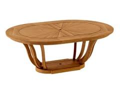 Tavolo da giardino ovale in teakTULIPE | Tavolo da giardino - ASTELLO BY THIERRY MASSANT
