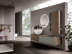 Mobile lavabo in legno con specchioTULLE 02 - ARCHEDA