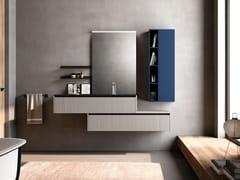 Mobile lavabo singolo in legno con specchioTULLE 03 - ARCHEDA