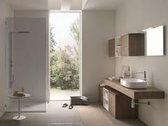 Mobile lavabo singolo sospeso in legnoTULLE 18 - ARCHEDA