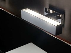 BOVER, TWALL Applique a LED in acciaio inox con dimmer