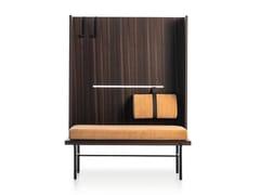 Panca in legno con schienale altoTWELVE A.M.   Panca con schienale alto - MOLTENI & C.
