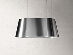 Cappa a soffitto in acciaio inox con illuminazione integrataTWIN - ELICA