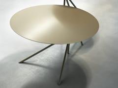 Tavolino basso rotondo design per contractTWIN B - MEMEDESIGN