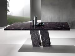 Tavolo rettangolare in Crystal Stone®TWINS - BALLARINI