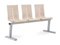 Seduta su barra a pavimento in faggioTWIST 221-3-N2 - LD SEATING