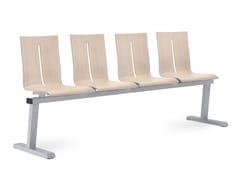 Seduta su barra a pavimento in faggioTWIST 221-4-N2 - LD SEATING