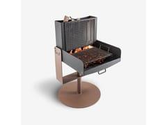 Barbecue a carbonella a legna in metalloTWIST - PALAZZETTI LELIO