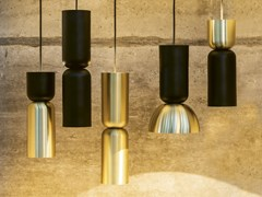 LAMPADA A SOSPENSIONE A LED IN METALLOTWOCAN - DARK AT NIGHT