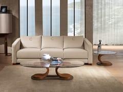 Tavolino ovale in legno e vetroMISTRAL | Tavolino ovale - CARPANELLI