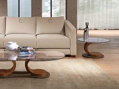 Tavolino rotondo in legno e vetroMISTRAL | Tavolino rotondo - CARPANELLI