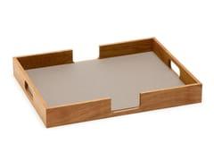 Vassoio rettangolare in legno Vassoio -