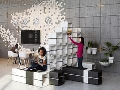 Libreria ufficio a giorno modulare U-CUBE | Libreria ufficio modulare -