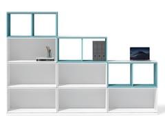 Libreria ufficio autoportante modulare in legnoUBI EVO | Libreria ufficio - BRALCO