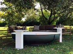 Agape, UFO OUTDOOR Vasca da bagno in acciaio inox per esterni