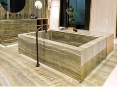 Pavimento/rivestimento in gres porcellanato effetto marmo ULTRA ONICI - GREEN ONYX VEIN CUT - ULTRA ONICI