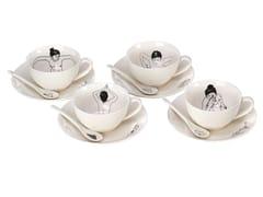 Set di tazze da tè in porcellana con piattinoUNDRESSED | Set di tazze da tè - POLS POTTEN