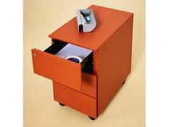 Cassettiera ufficio in metallo con ruoteUNIBOX   Cassettiera ufficio - MANERBA