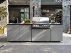 Cucina da esterno in alluminio verniciato a polvereUNICA 270 - GARDENS AND ROSES
