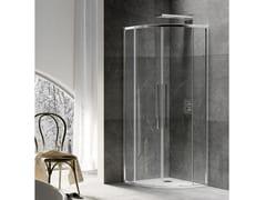 RELAX, UNICO R2-S Box doccia semicircolare con porta scorrevole