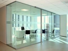 Parete mobile scorrevole in vetro per ufficioUNIKA 6 - ELITABLE