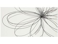 Rivestimento in ceramicaUNIQUE   Inserto fiori platino - ARMONIE CERAMICHE