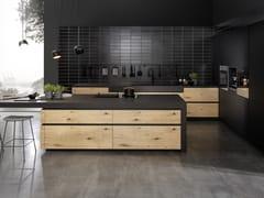 Cucina componibile in alluminio e legno senza maniglieUNO - RATIONAL
