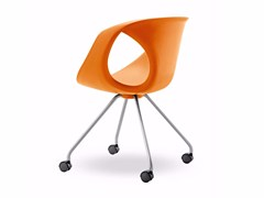 Sedia in poliuretano con ruote UP CHAIR | Sedia con ruote - Up