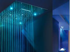 Soffione doccia a LED in acciaio inox con cromoterapiaURANO | Soffione doccia con cromoterapia - AMA LUXURY SHOWER