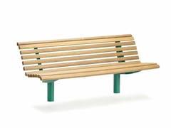Panchina in acciaio e legno con schienale URBAN | Panchina con schienale - Urban