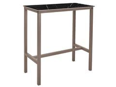 Tavolo alto rettangolare in alluminioURBAN T | Tavolo rettangolare - EZPELETA DIVISIÓN COMERCIAL