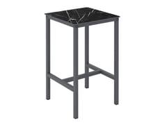 Tavolo alto quadrato in alluminioURBAN T | Tavolo quadrato - EZPELETA DIVISIÓN COMERCIAL