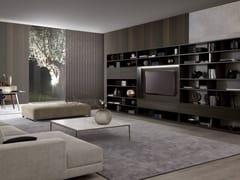 Libreria con illuminazione con porta tv URBAN - Atelier