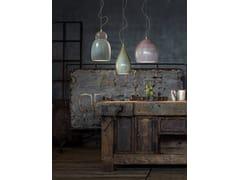 Lampada a sospensione in ceramicaVAGUE | Lampada a sospensione a luce diretta - FERROLUCE