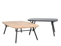 Tavolino da caffè in acciaio e legnoVAIN | Tavolino da caffè - JESS DESIGN