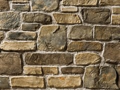 Rivestimento in pietra ricostruitaVALLESE P18 | Marrone Terra - GEOPIETRA