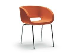 Sedia imbottita con braccioli VANITY | Sedia imbottita - Vanity