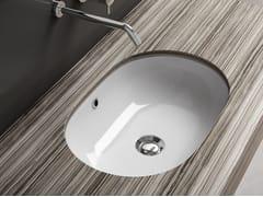 Lavabo da incasso sottopiano ovale in ceramica LAVABI D'ARREDO | Lavabo ovale - Lavabi d'arredo