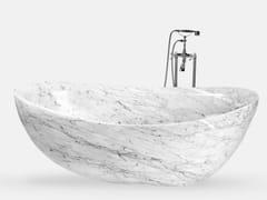 Vasca da bagno centro stanza ovaleVASCA DA BAGNO IN MARMO DI CARRARA - VALSECCHI MARMI