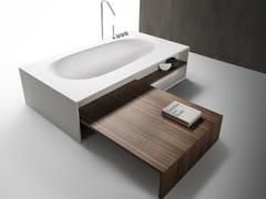 Vasca da bagno in Cristalplant con panca in legno VASCAMISURA | Vasca da bagno in Cristalplant® -