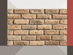 Rivestimento di facciata in mattone ricostruito VECCHIO MR01 TERRAKOTTA - Profilo TERRAKOTTA