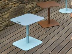 Tavolino quadrato in alluminio per contractVEDET K - ADICO