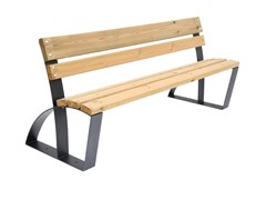 Panchina in legno con schienaleVEGA - CALZOLARI