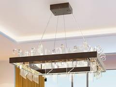 Lampada a sospensione a LED in vetro e metalloVELA | Lampada a sospensione - PATRIZIA VOLPATO