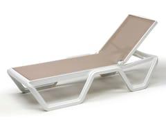 Lettino da giardino impilabile reclinabile in tecnopolimeroVELA - SCAB DESIGN