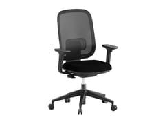 Sedia ufficio ad altezza regolabile in tessuto a 5 razze con braccioliVELA - ERSA MOBILYA